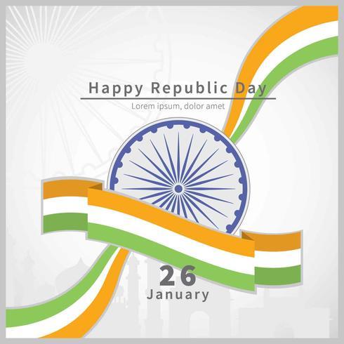 Ilustración de bandera de India Republic Day