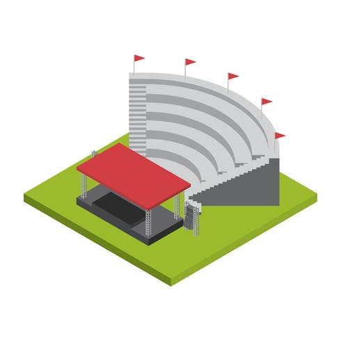 Amfitheater Isometric Vector