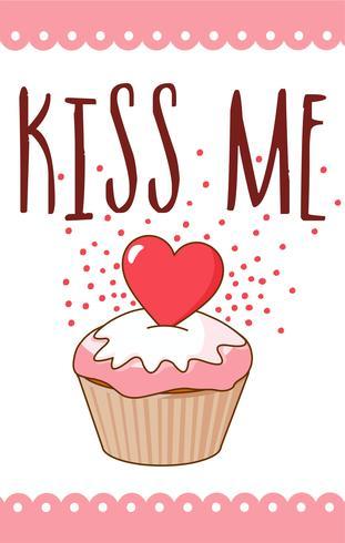 Kiss Me Valentine Card