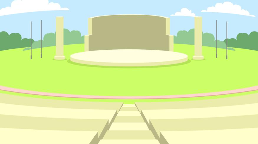 Outdoor Amphitheater Free Vector