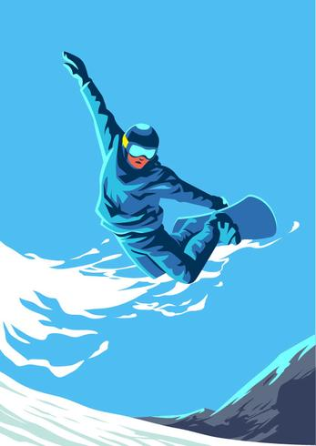 Snowboarding Juegos Olímpicos de Invierno Deporte vector