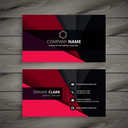 Black and red business card template vector design illustration black and red business card template vector design illustration reheart Images