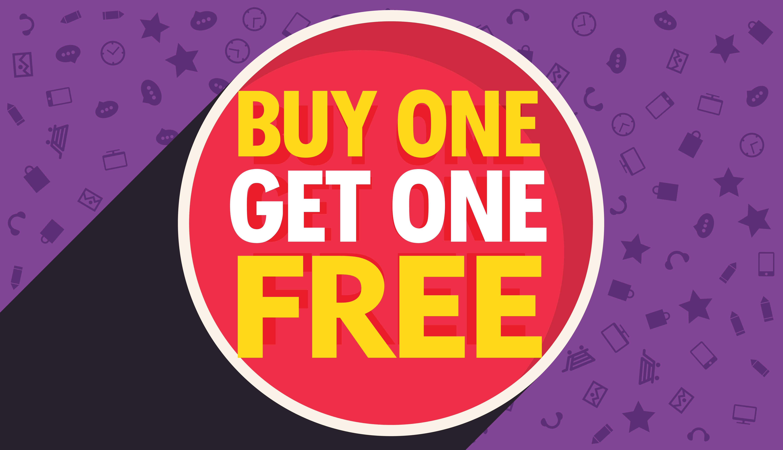 Buy One Get One Free Discount Voucher Vector Design Template  Free Discount Vouchers
