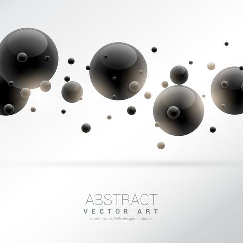 background with black molecules particles