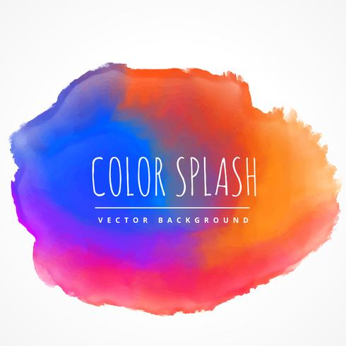 illustration de conception vecteur coloré splash tache