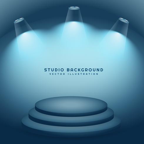 studio background with podium