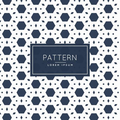 abstract hexagonal and diamond shape pattern