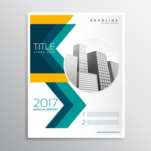 annual report business brochure template design with arrow style