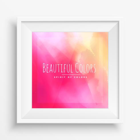 beautiful colors in realistic frame