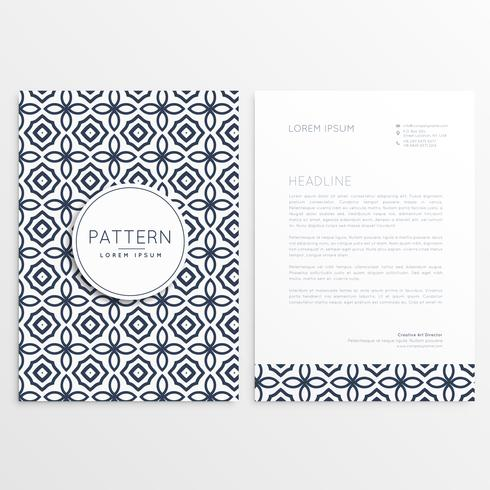 front and back letterhead design with pattern shape