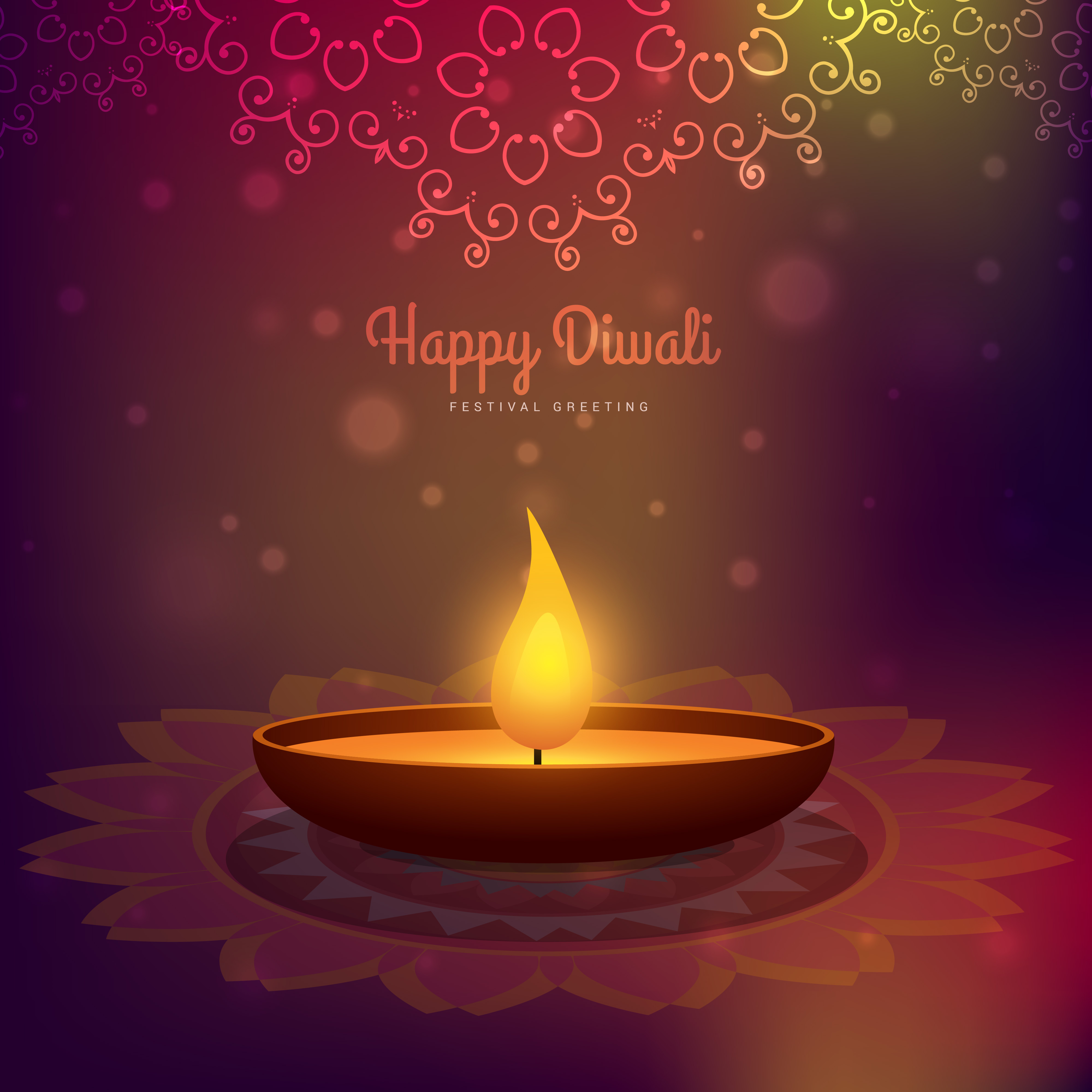 Creative Diwali Season Vector Design Background Download Free