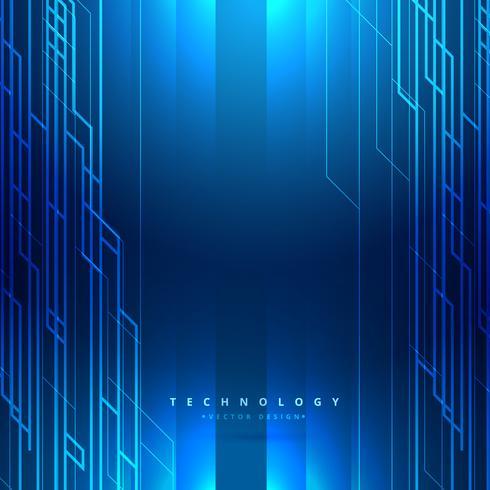 illustration de technologie vecteur numérique fond bleu