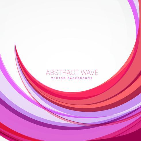 ilustração de design de fundo de onda rosa limpo