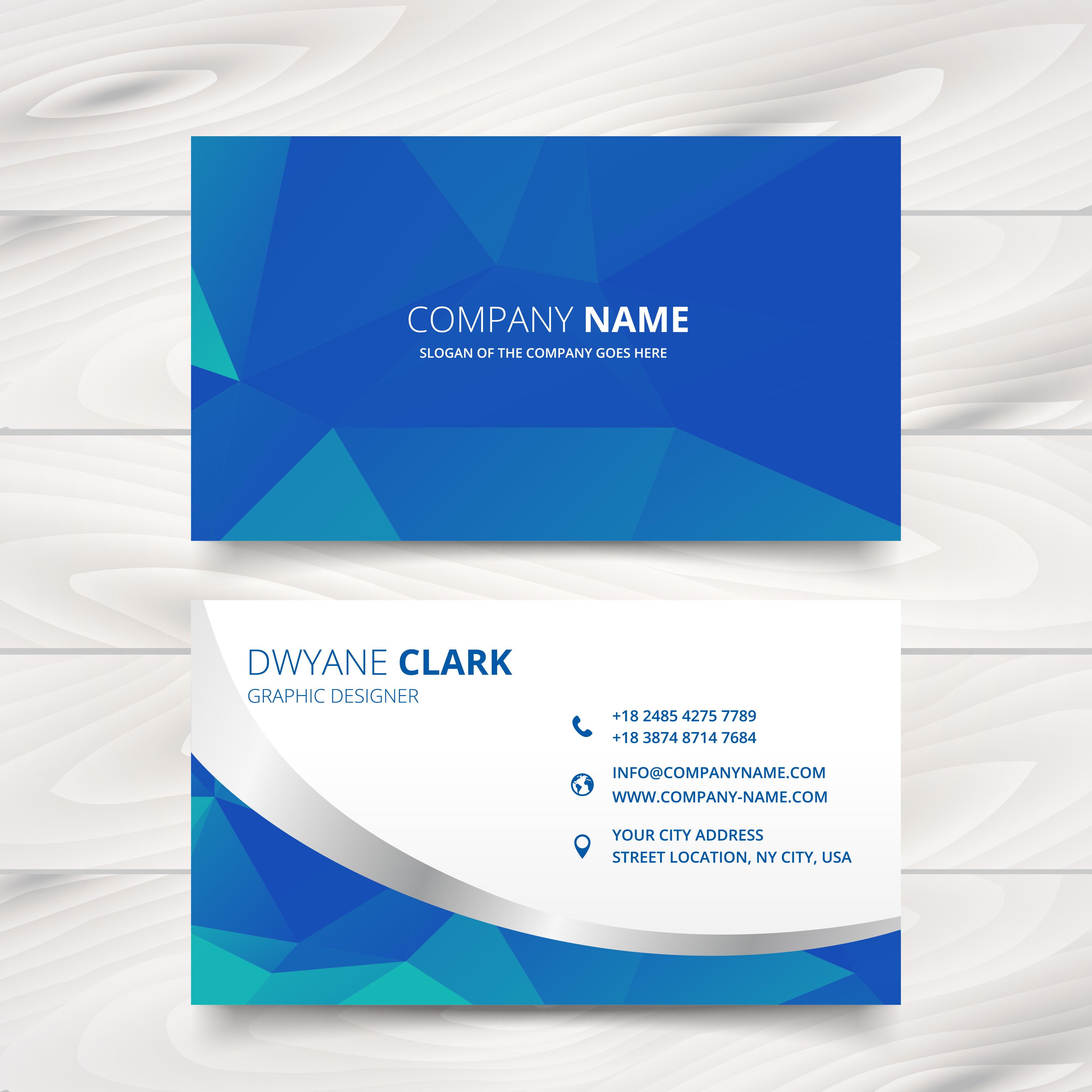 modern business card d...
