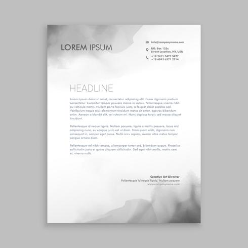 creative flowing ink letterhead  template vector design illustra
