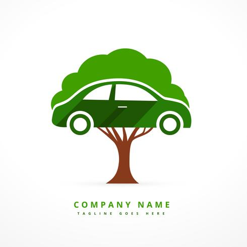 car and tree business symbol concept design