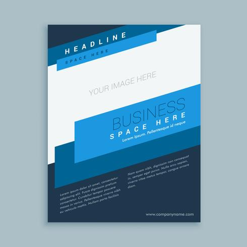 brochure template design in modern style