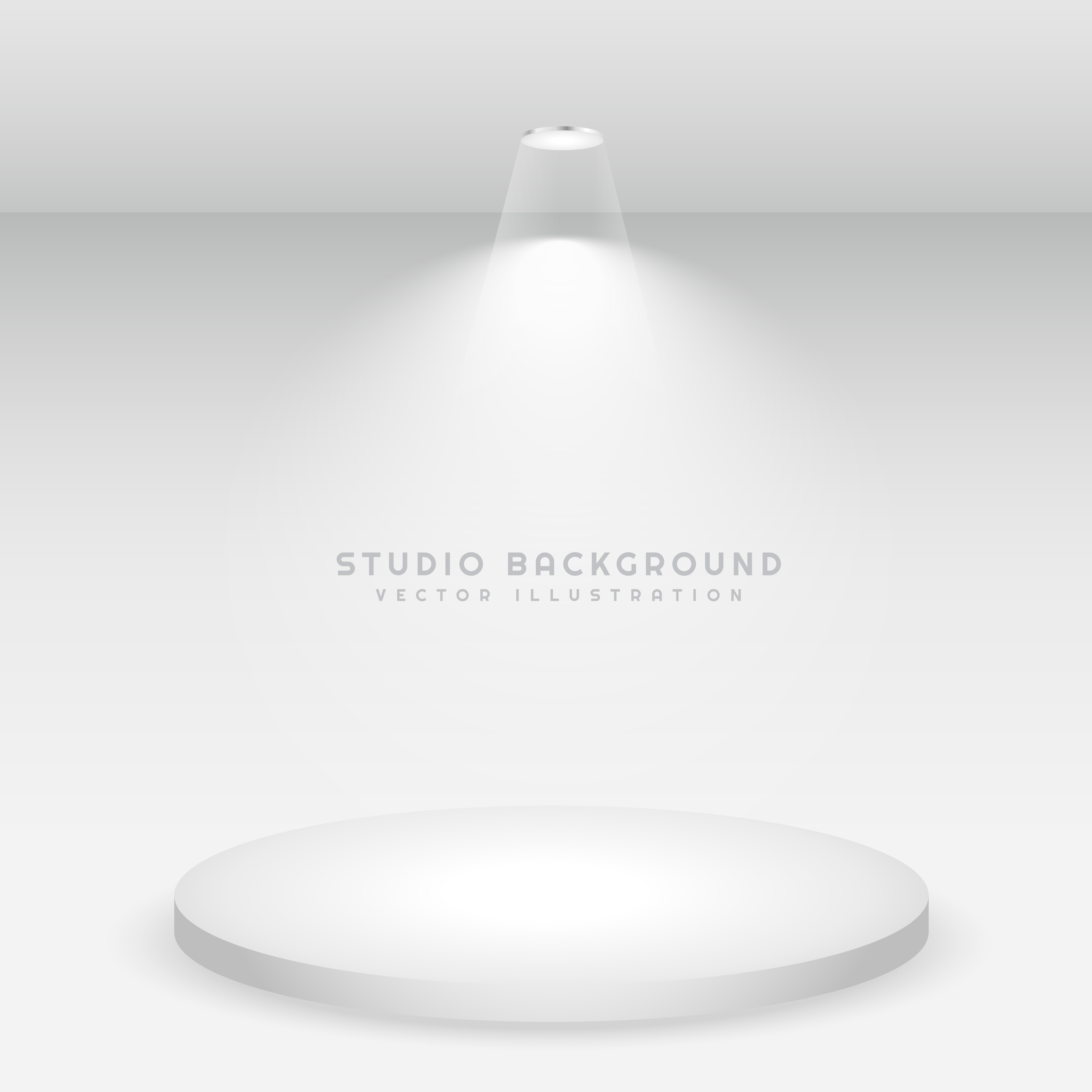 White Studio Background With Podium