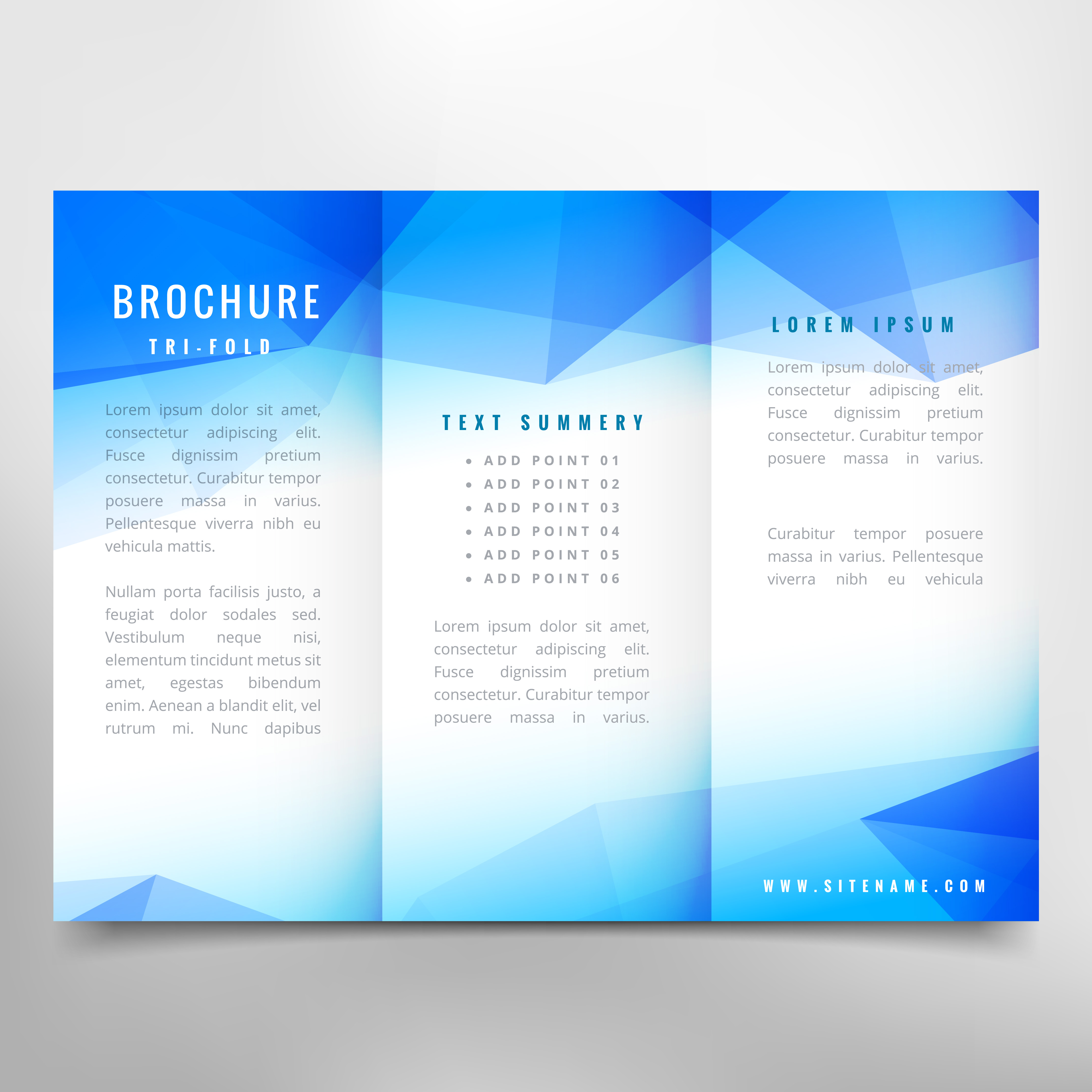 Abstract Brochure: Abstract Trifold Brochure