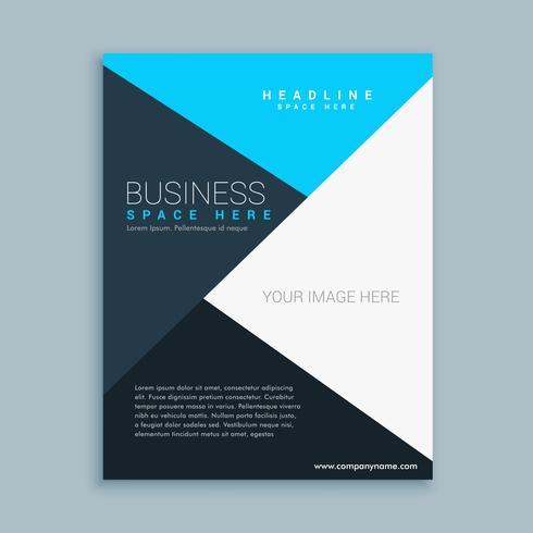 modèle de flyer brochure entreprise propre élégant