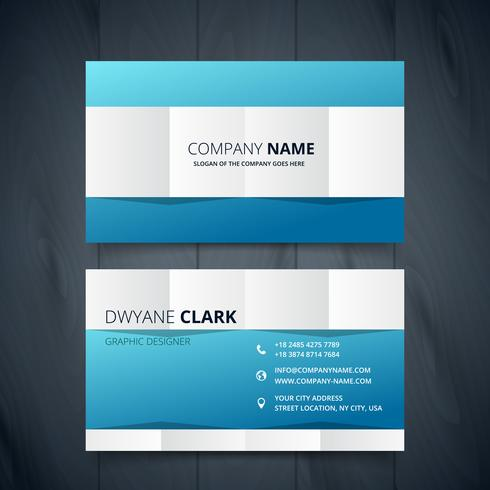 clean modern business card vector design