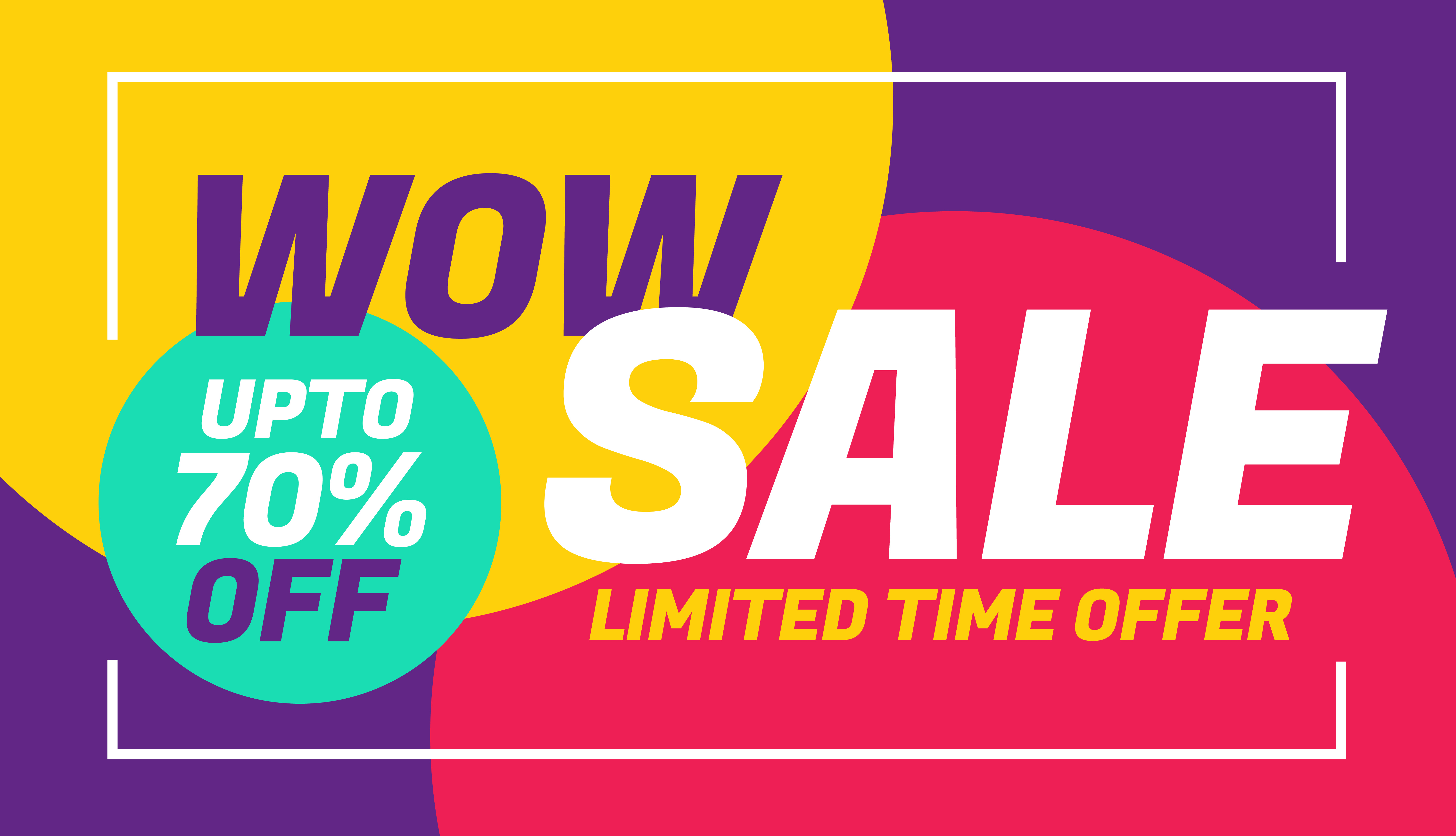 advertising sale banner design with colorful background download free vector art stock