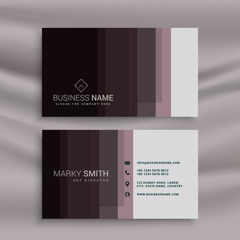 dark brown business card design in clean minimal style