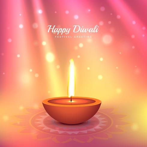 beautiful indian diwali festival greeting vector design