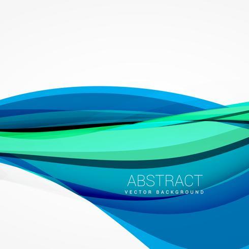 abstracte blauwe golf achtergrondontwerpillustratie