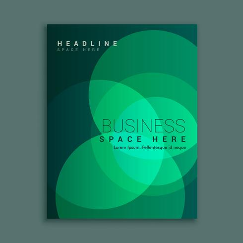 business magazine cover with abstract green circle shapes