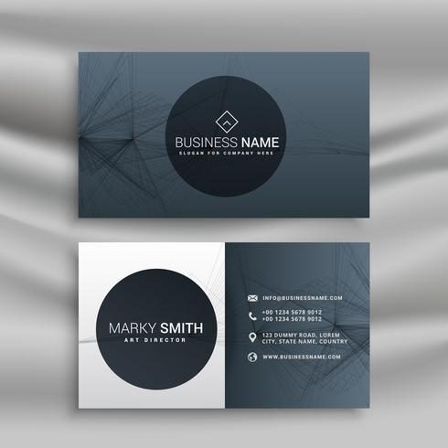 professional gray business card
