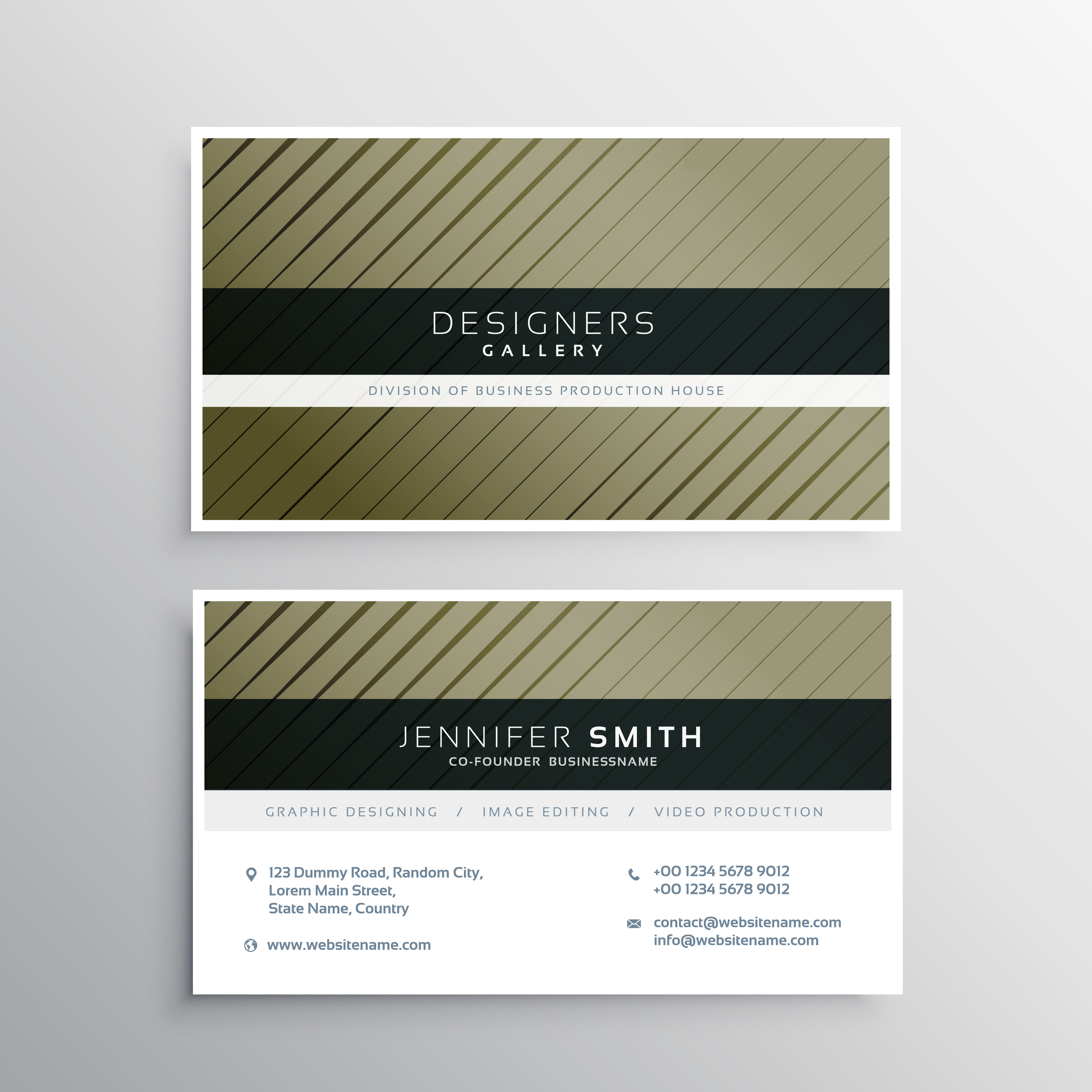 Straight Line Intro The Art Of Closing : Business card design with diagonal straight lines