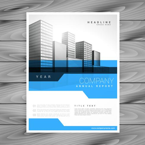 blue annual report brochure flyer poster design template vector