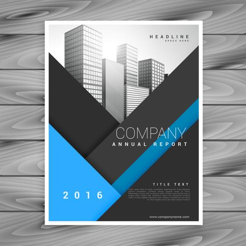 business annual report brochure design vector