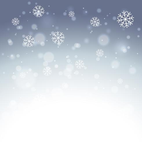 elegant snowflakes background