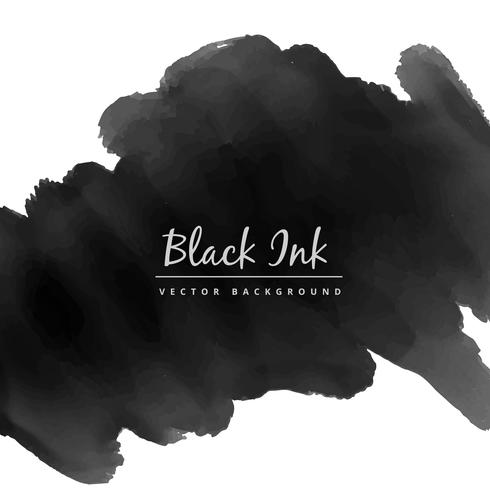 black watercolor ink stain vector design illustration