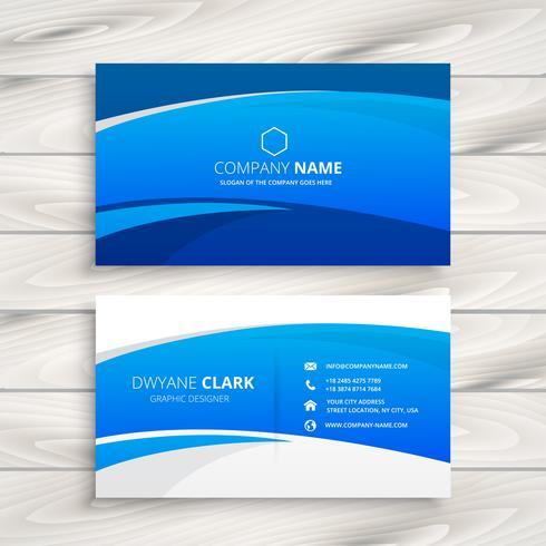blauwe golf visitekaartje vector ontwerp illustratie