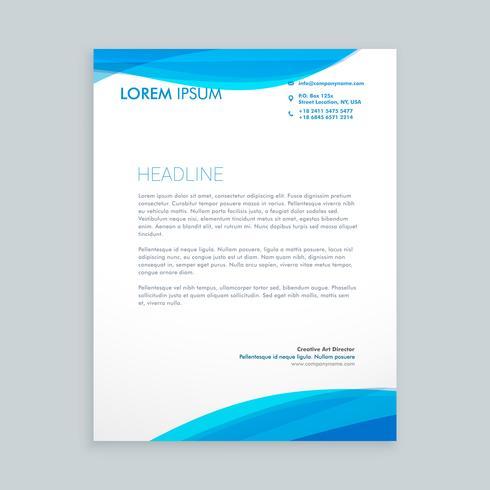 letterhead brochure design  template vector design illustration