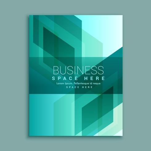 business brochure design in modern abstract shapes