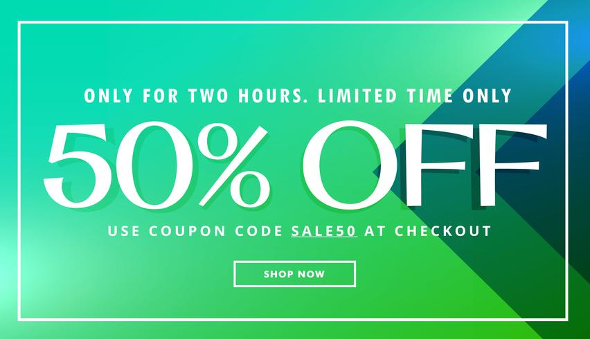 sale and offer promo template with beautiful colors