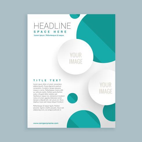 Design moderno de folhetos comerciais
