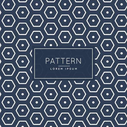 stylish hexagonal pattern template