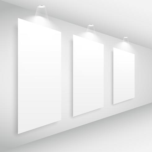 gallery interior picture frame with lights