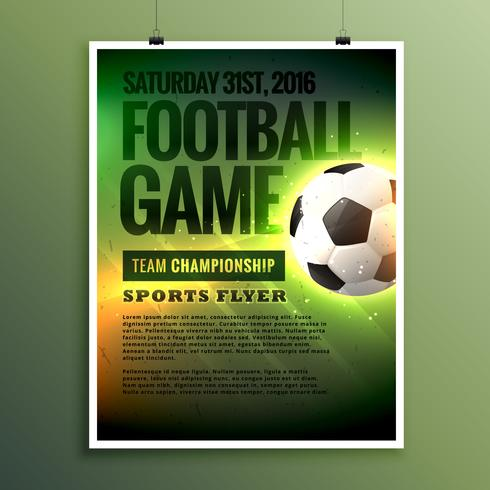 football game flyer design card invitation template