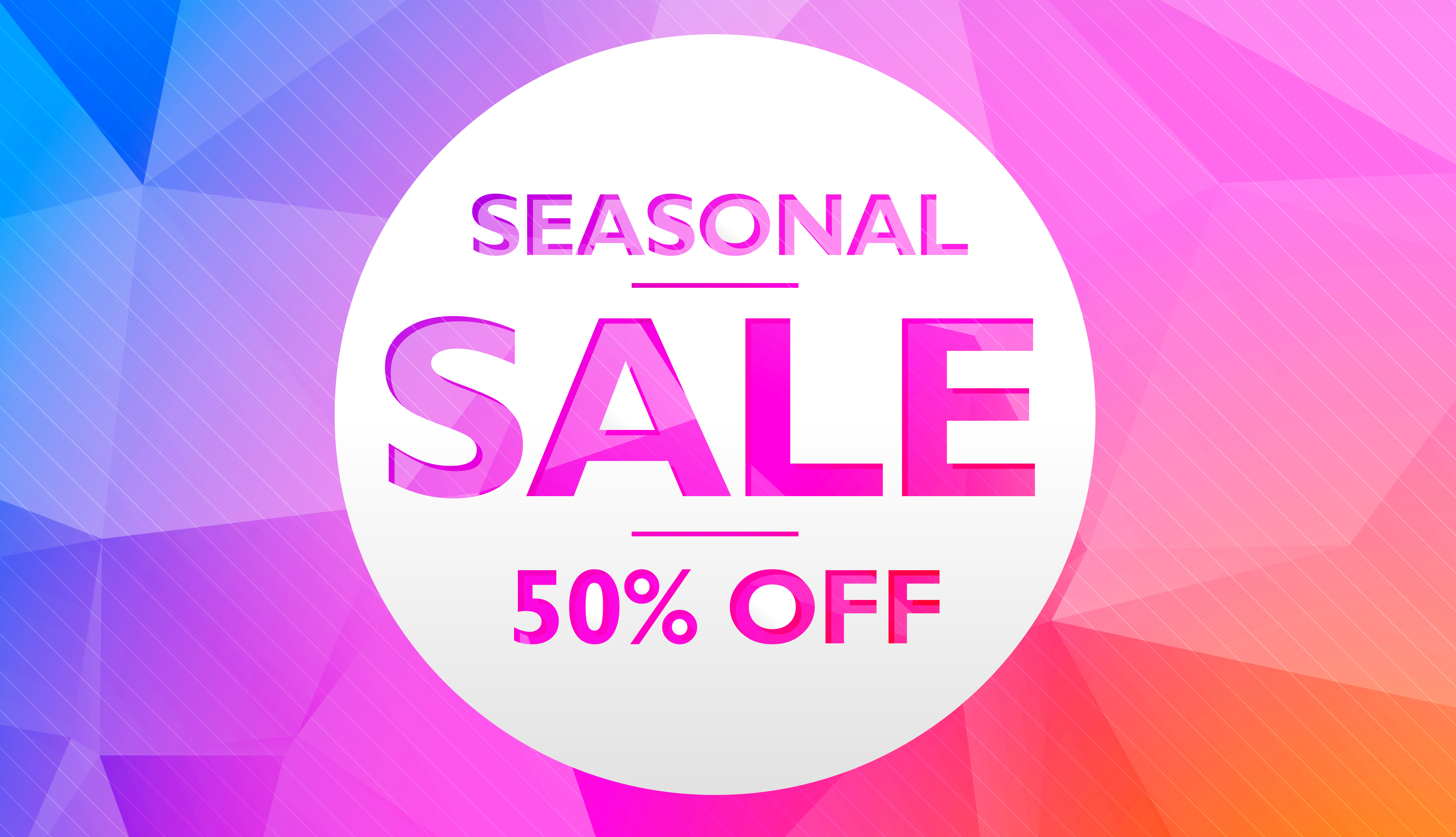 seasonal sale offer and discount banner poster template