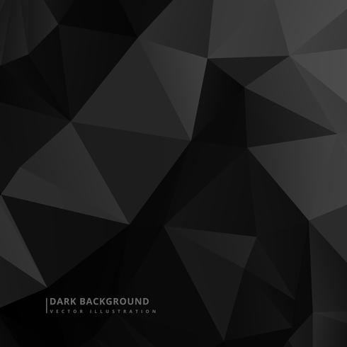 low poly dark black background vector design illustration