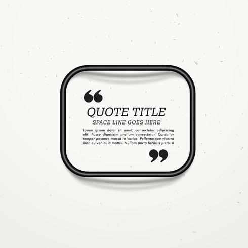 quotation frame box for your message
