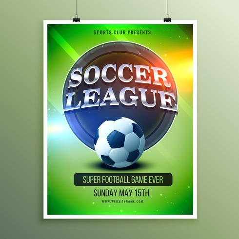 soccer league presentation flyer