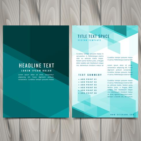 abstract blue shapes brochure flyer design
