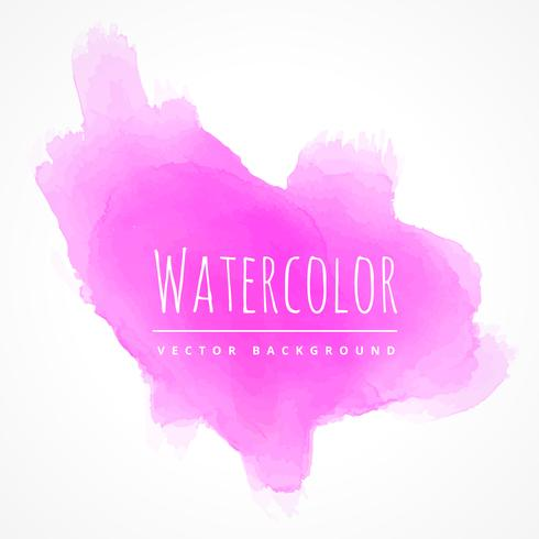 pink watercolor stain texture vector design illustration
